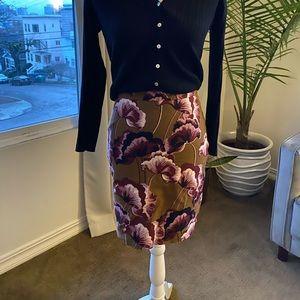Anne Taylor petite floral pencil skirt